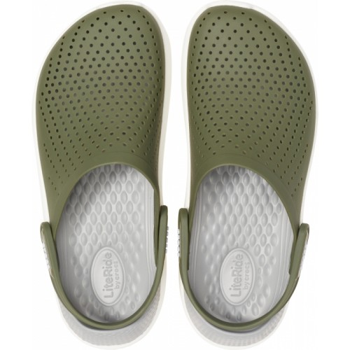 Crocs™ LiteRide Clog Army Green/White
