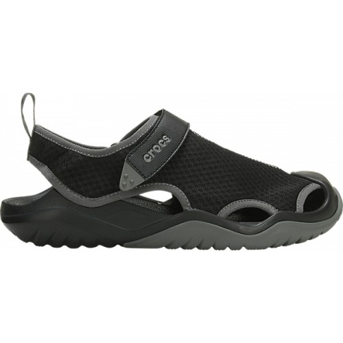 Crocs™ Swiftwater Mesh Deck Sandal Black