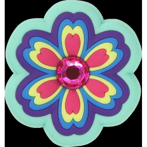 JIBBITZ Rhinestone Rainbow Flower