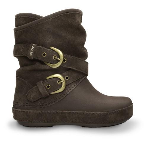 Crocs™ Berryessa Tall Suede Buckle Boot