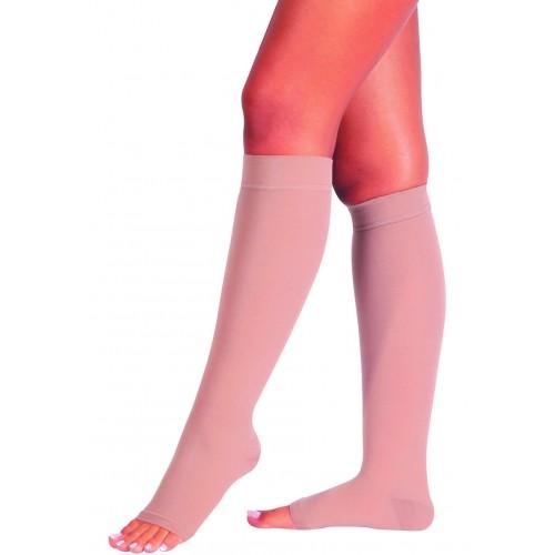 Kompresinės kojinės 1 k.kl. iki kelių atvirais pirštais
