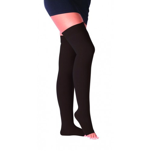 Kompresinės kojinės iki pusės šlaunų atvirais pirštais 2k. kl